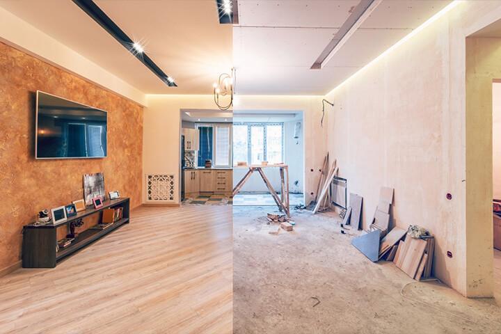 Renovation d'intérieur avant / après